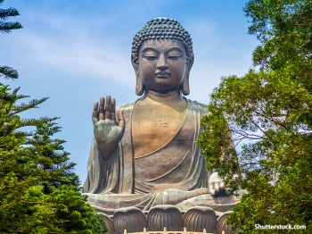 Buddha was a man on earth bringing meditation & enlightenment to the people